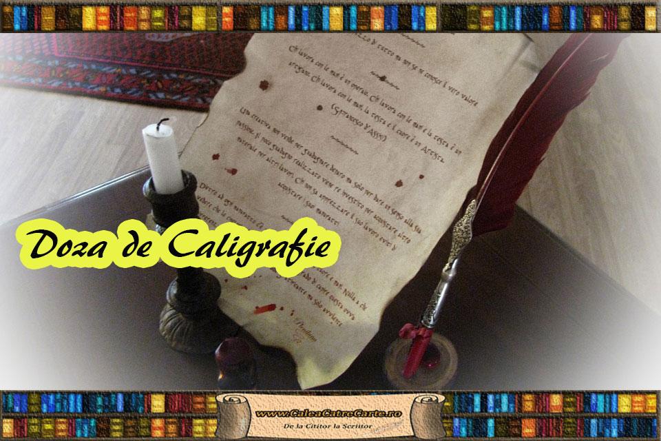 scrierea caligrafica